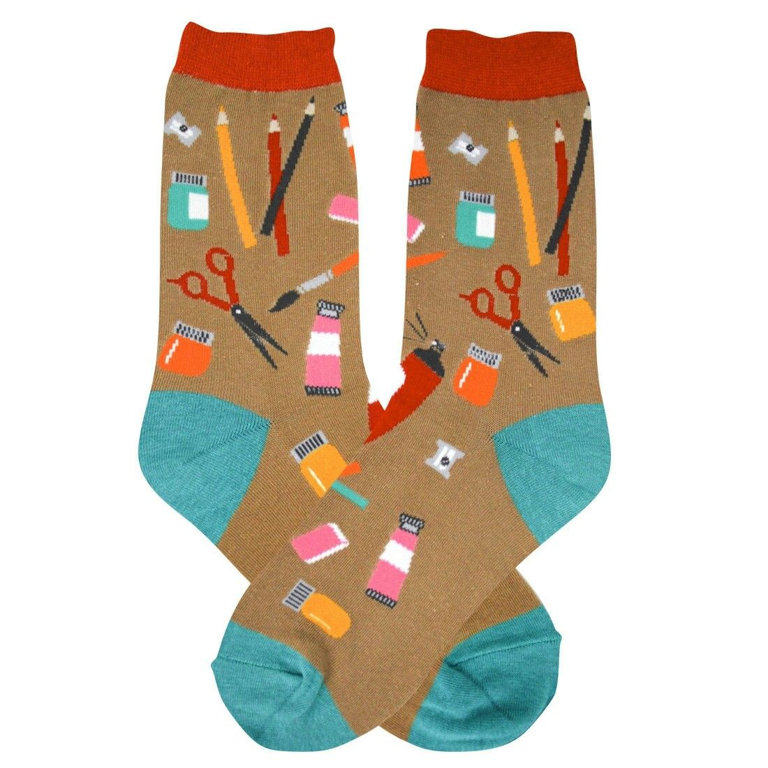 Artist Foot Traffic Trouser Crew Socks