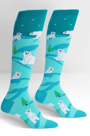 Polar Bear Stare Knee High Socks