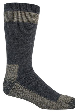 Outdoor Boot Crew Socks Navy Wool Blend