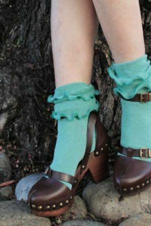 Double Ruffles Trouser Crew Socks Sample
