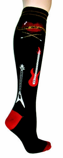 Rock N Roll Foot Traffic Knee High Socks
