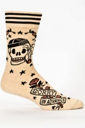 Sorry in Advance Blue-Q Dress Crew Socks