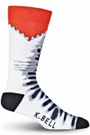 Tiger Shark Bite K Bell Dress Crew Socks