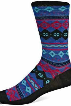 Fair Isle Print Hot Sox Dress Crew Socks