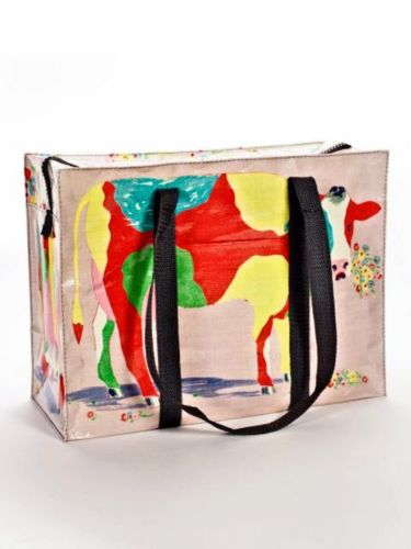 Colored Cow Blue-Q Shoulder Tote