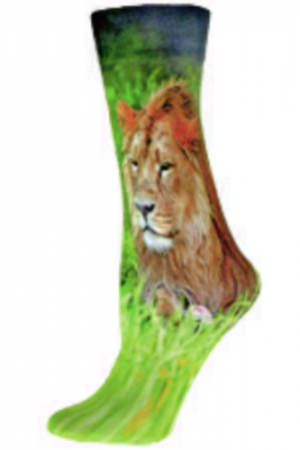 Lion in Grass Nouvella Trouser Socks