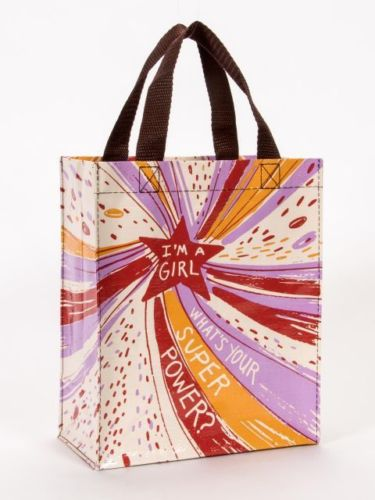 I'm a Girl Whats Your? Blue-Q Handy Tote
