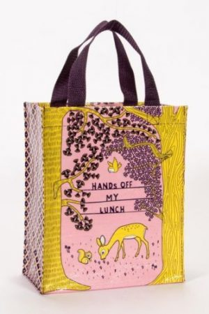 Hands Off My Lunch Blue-Q Handy Tote