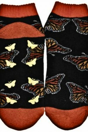 Monarch Butterfly Wild Habitat Slipper Socks