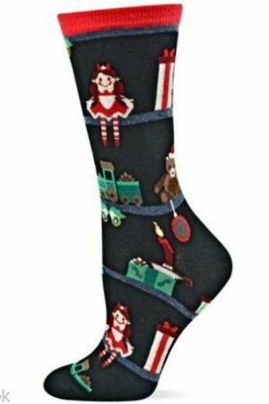 Festive Toys Hot Sox Trouser Crew Socks Black