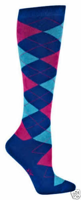 Argyle Diamonds of Color Knee High Socks