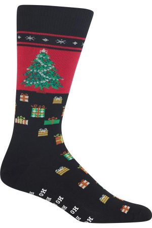Christmas Tree Hot Sox Non-Skid Dress Crew Socks