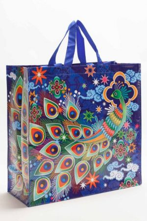Peacock Blue-Q Shoppers Tote