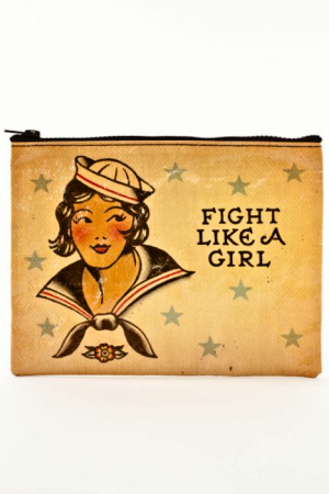 Fight Like A Girl Blue-Q Standard Pouch