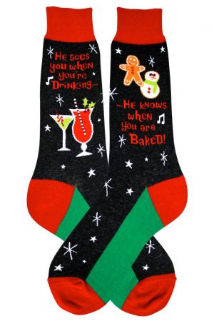 Santa Knows Foot Traffic Dress Crew Socks