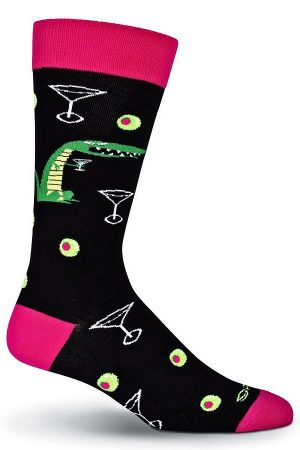 Alligator Martini K Bell Dress Crew Socks