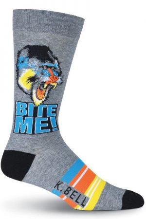 Bite Me K Bell Dress Crew Socks Baboon
