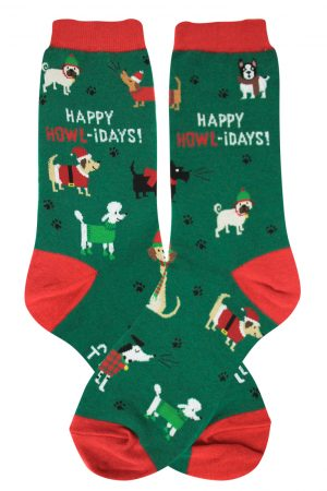 Happy Howl-idays Foot Traffic Trouser Crew Socks