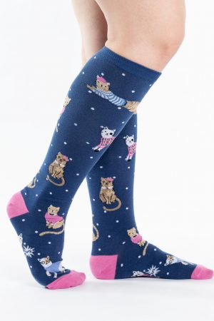 Business Cats-ual Knee High Socks