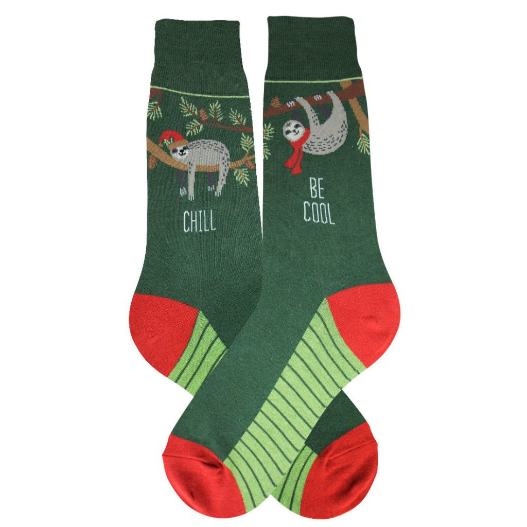 Christmas Sloth Foot Traffic Dress Crew Socks