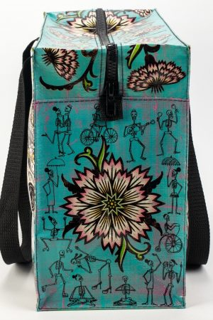 Day of the Dead Blue-Q Shoulder Tote