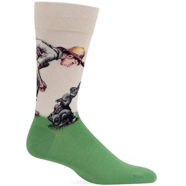 Spring Time Hot Sox Dress Socks Cream