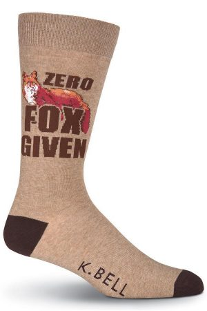 Zero Fox Given K Bell Dress Crew Socks Brown