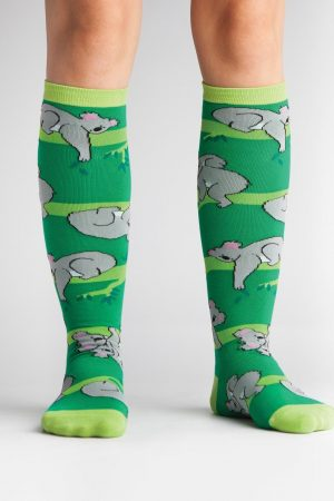 Koala Love Knee High Socks Green