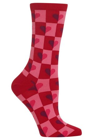 Half Hearts Hot Sox Trouser Crew Socks Red