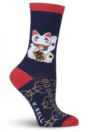 Lucky Cat K Bell Trouser Crew Socks