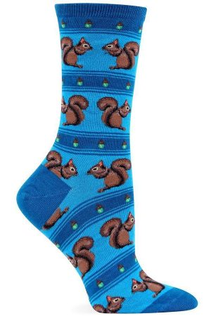 Squirrels Hot Sox Trouser Crew Socks Dk Blue