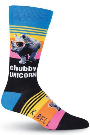 Chubby Unicorn K Bell Dress Crew Socks