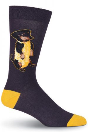 Corn Dog K Bell Dress Crew Sock Black