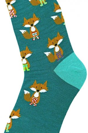 Foxes in Socks Foot Traffic Trouser Crew Socks