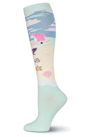 Unicorn Mermaid K Bell Knee High Socks