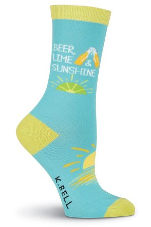 Beer, Lime & Sunshine K Bell Trouser Crew Socks