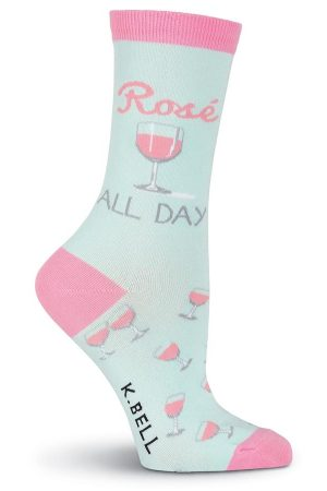 Rose All Day K Bell Trouser Crew Socks New Lt Blue