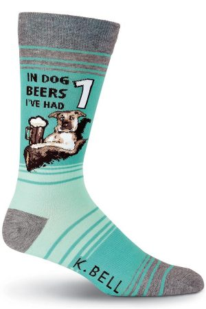 Dog Beers K Bell Dress Crew Socks