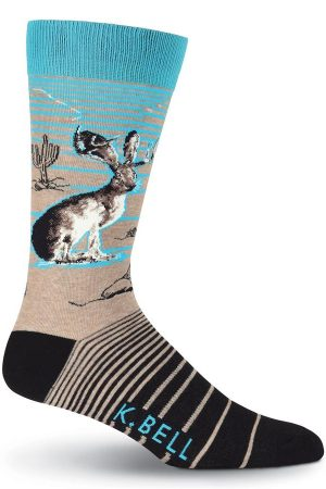 Jackalope K Bell Dress Crew Socks Brown