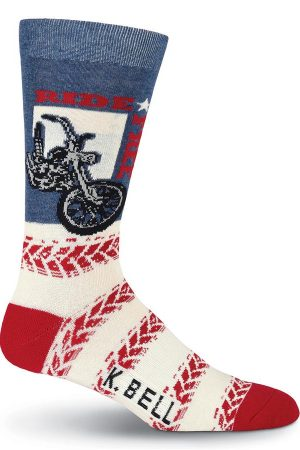 Ride Free K Bell Dress Crew Socks