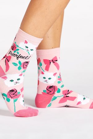 You're Purrfect Trouser Crew Socks