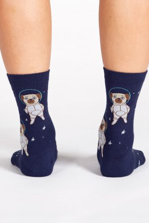 Pugston, We Have a Problem Trouser Crew Socks