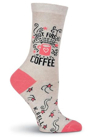 But First Coffee K Bell Trouser Crew Socks