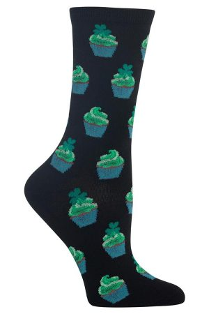 Irish Cupcakes Hot Sox Trouser Crew Socks