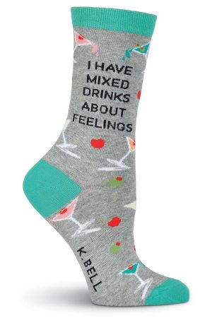 Mixed Drinks K Bell Trouser Crew Socks New Grey