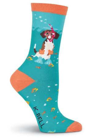 Scuba Dog K Bell Trouser Crew Socks Blue