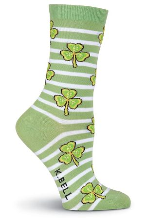Striped Shamrocks K Bell Trouser Crew Socks