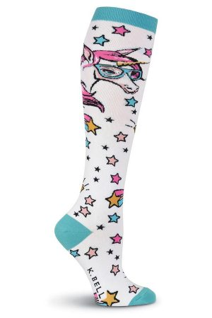 Unicorn with Glasses K Bell Knee High Socks