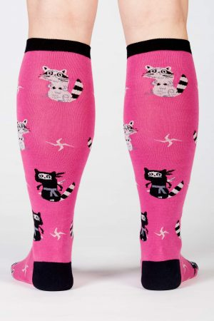 Nocturnal Ninja Knee High Socks New Pink