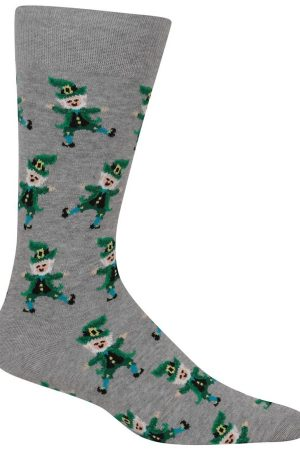 Dancing Leprechaun Hot Sox Dress Crew Socks
